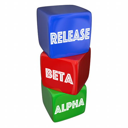 release: Alpha Beta Release Final Testing Product Ready 3d Illustration