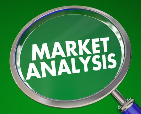 市場分析競争的研究虫眼鏡 3 d イラストレーション 写真素材