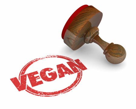 Vegan Round Stamp Vegetarian Diet Approved 3d Illustration