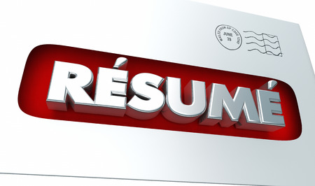 Resume Apply Job Candidate Application Envelope 3d Illustration Stock Photo