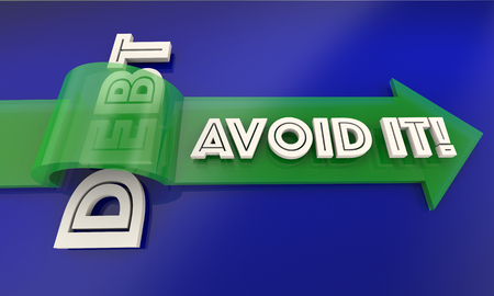 over paying: Debt Avoid It Save Money Budget Plan Arrow 3d Illustration