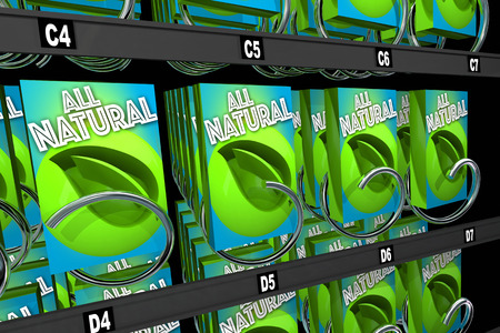 vending: All Natural Products Ingredients Snack Vending Machine 3d Illustration