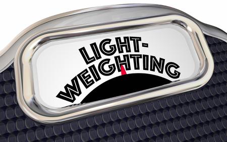 Lightweighting Reduce Weight Lighter Scale 3d Illustration