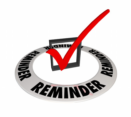 recall: Reminder Check Box Mark Remember Important Task Appointment 3d Illustration