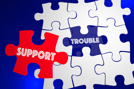 problem: Trouble Problem Issue Solved Customer Support Service Puzzle 3d Illustration Stock Photo