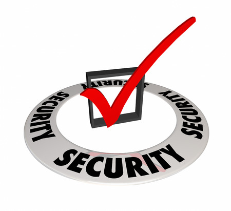 checking: Security Check Box Mark Caution Prevention Secure Safety 3d Illustration
