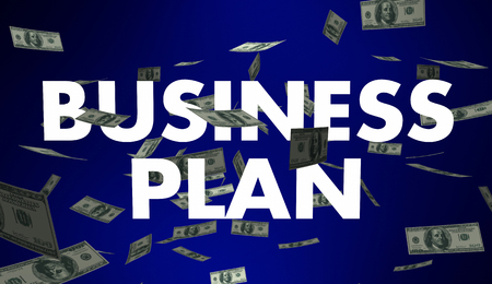 looking ahead: Business Plan Goal Strategy Money Words 3d Illustration