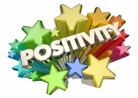 fireworks 'hope fireworks: Positivity Good Attitude Optimism Stars Word 3d Illustration Stock Photo
