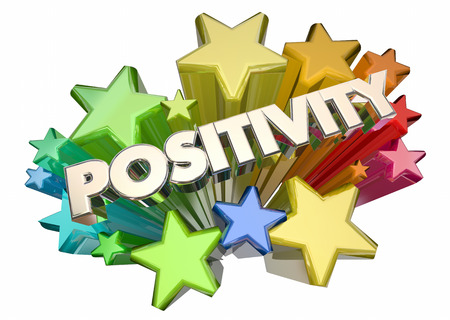 Positivity Good Attitude Optimism Stars Word 3d Illustration Stock Photo