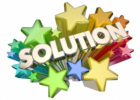 answering: Solution Answer Problem Solved Stars Word 3d Illustration