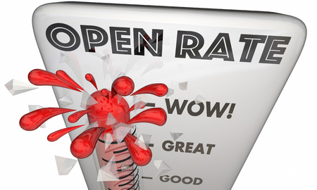 Open Rate Measurement Email Marketing Response 3d Illustration
