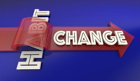 dangerous: Change Old Bad Habit Improve New Lifestyle Arrow Over Word 3d Illustration Stock Photo