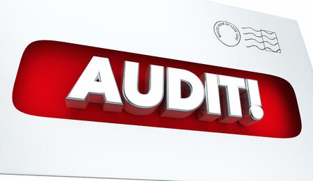 notifying: Audit Tax Review Notice Envelope 3d Illustration