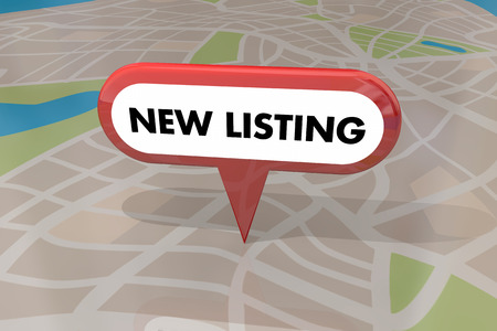 listing: New Listing Home House for Sale Real Estate Map Pin 3d Illustration