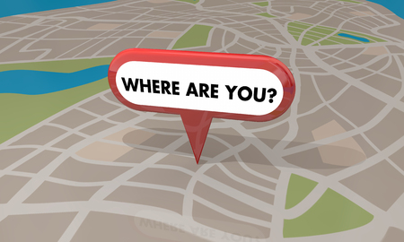 pinning: Where Are You Lost Found Map Pin Locaiton 3d Illustration