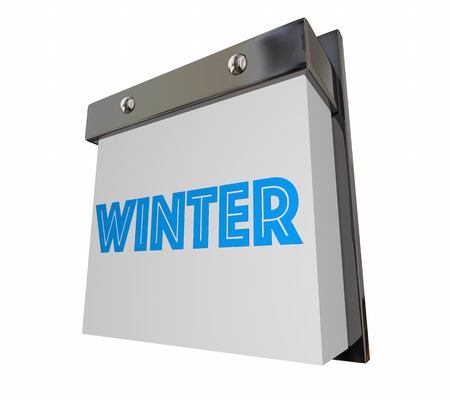 cold season: Winter Cold Season Changing Calendar Page 3d Illustration Stock Photo