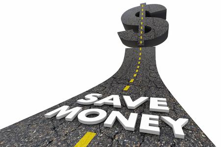 Save Money Road Words Gaste Menos Pre Imagens