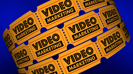Video Marketing Content Tickets Audience 3d Illustration