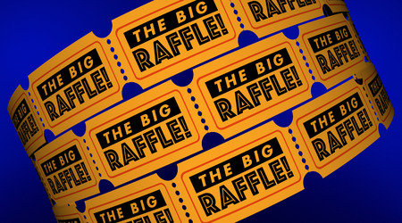 The Big Raffle Contest Win Prize Get Tickets 3d Illustration