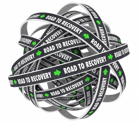 getting better: Road to Recovery Get Better Improvement 3d Illustration