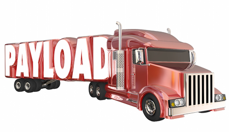 Payload Semi Truck Hauler Transporting Goods 3d Illustration Stock Photo