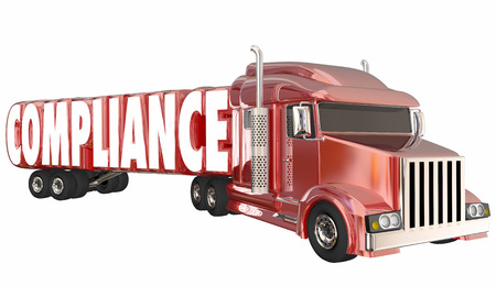 Compliance Trucking Rules Regulations Laws Word 3d Illustration
