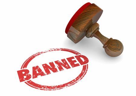 Banned Forbidden Illegal Not Allowed Stamp Word 3d Illustration