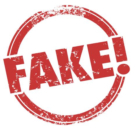 fraudulent: Fake Lies Fraud Bad Copy Wrong Info Stamp 3d Illustration Stock Photo