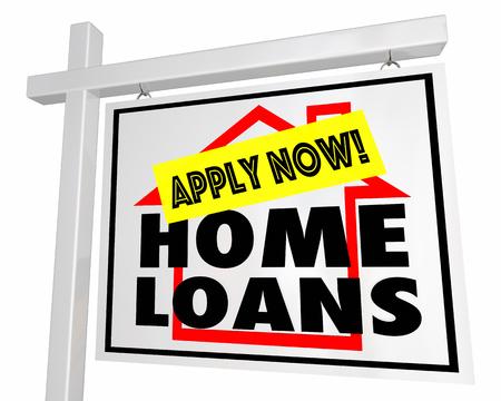 住宅ローン住宅ローン適用販売のための家今 3 d イラストレーションに署名
