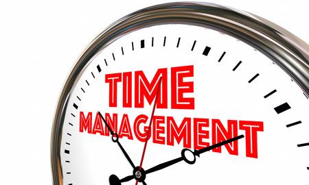 Time Management Efficient Clock Managing Projects 3d Illustration