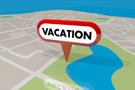 tagging: Vacation Location Map Pin Holiday Spot Travel Trip Destination 3d Illustration Stock Photo