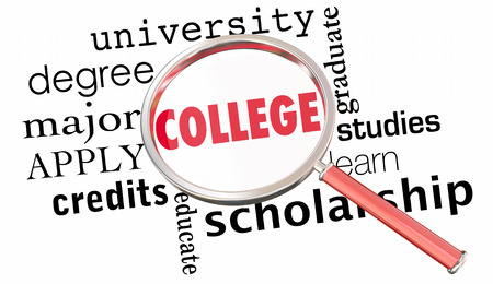 College University School Search Best Institution Education 3d Illustration Stock Photo