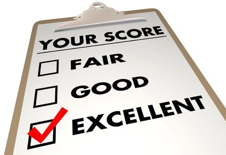 rate: Your Score Grade Review Evaluation Checklist 3d Illustration Stock Photo