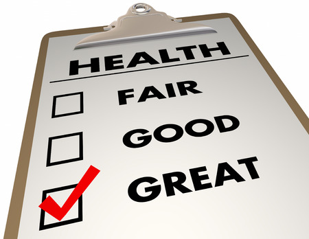 evaluated: Health Checkup Evaluation Score Checklist 3d Illustration Stock Photo