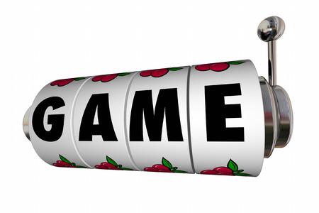 Game Slot Machine Reels Word Letters Casino 3d Illustration