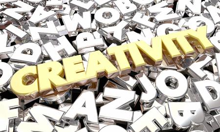Creativity Imagination Word Letters Ideas 3d Illustration