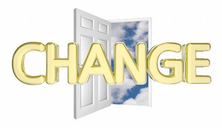 Change Door Opening Adapt Evolve Innovate Disrupt 3d Illustration Stock Photo