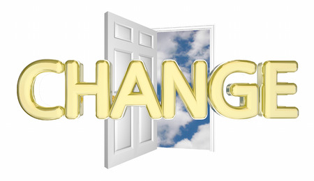 Change Door Opening Adapt Evolve Innovate Disrupt 3d Illustration Stock Photo