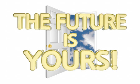hopeful: The Future is Yours Unlock Tomorrow Success Possibility 3d Illustration