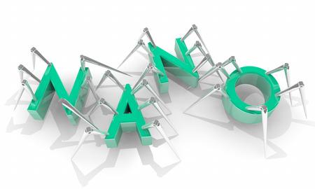crawlers: Nano Micro Technology Biology Spider Bots 3d Illustration