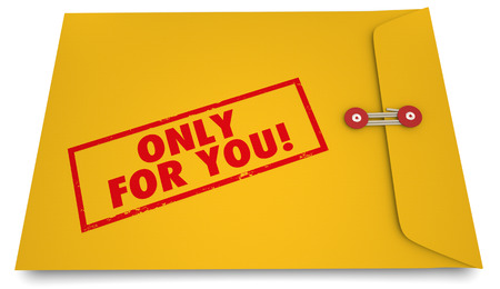 communication: Only for You Personal Secret Information Envelope 3d Illustration Stock Photo