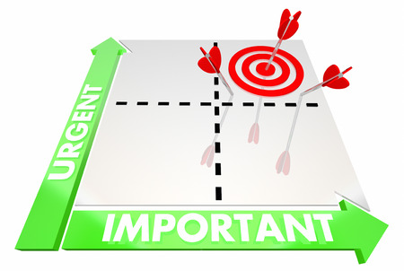 Urgent Vs Important Matrix Top Priorities Target 3d Illustration Foto de archivo