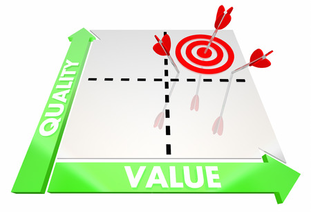 Quality Vs Value Price Better Best Product Service Matrix 3d Illustration