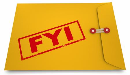 情報参考黄色封筒の 3 d 図