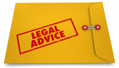 shared sharing: Legal Advice Lawyer Attorney Information Envelope 3d Illustration Stock Photo