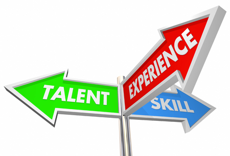 help: Talent Skill Experience 3 Way Signs Best Candidate 3d Illustration