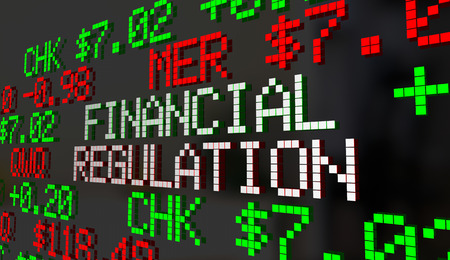 Financial Regulation Government Control Oversight Stock Market 3d Illustration Stock Photo