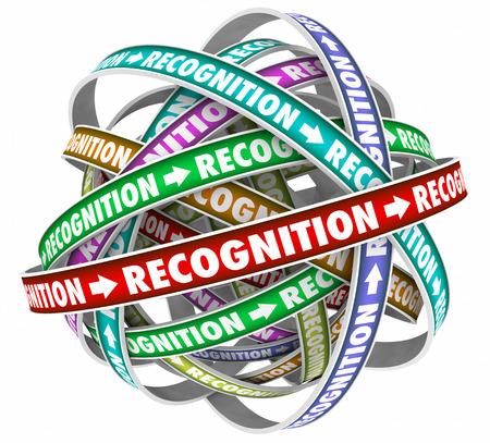 Anerkennung Wertschätzung Zyklus Flow belohnt Wort 3d Illustration Standard-Bild