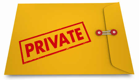 Private Classified Confidential Sensitive Info Envelope 3d Illustration