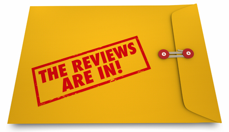 opinions: The Reviews Are In Feedback Opinions Comments Envelope 3d Illustration